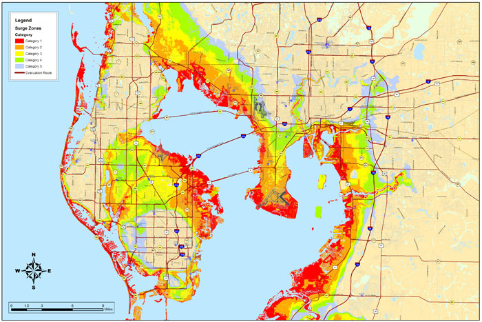 Flood Zones Where Are The Flood Zones In TampaSt Pete - Flood line map